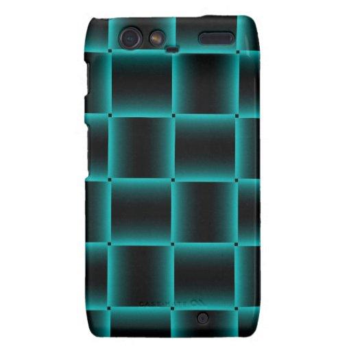 Modelo Azul-Resumido de la casilla negra Motorola Droid RAZR Carcasa