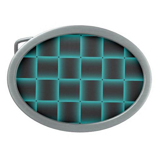Modelo Azul-Resumido de la casilla negra Hebilla Cinturón