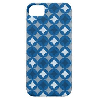 Modelo azul retro del círculo iPhone 5 carcasa