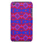 modelo azul rojo brillante del fractal iPod touch protector