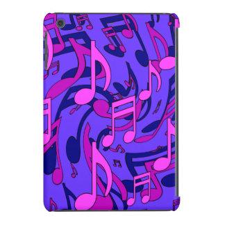 Modelo azul rosado púrpura de la música de las funda de iPad mini