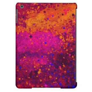 Modelo azul rosado rojo de la textura de la funda para iPad air