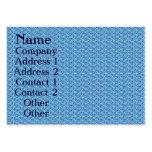 Modelo azul tarjetas de visita grandes