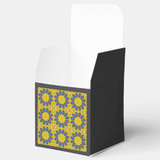 Modelo azul y amarillo caja para regalo de boda