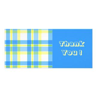 Modelo azul y amarillo de la tela escocesa plantilla de lona