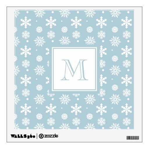 Modelo azul y blanco 1 de los copos de nieve con e
