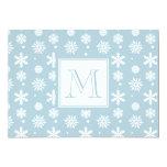Modelo azul y blanco 1 de los copos de nieve con anuncio personalizado