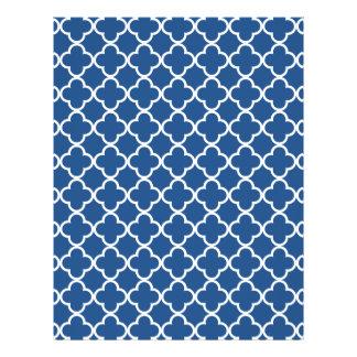Modelo azul y blanco clásico del marroquí de flyer a todo color