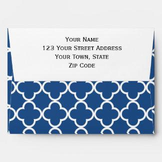 Modelo azul y blanco clásico del marroquí de sobres