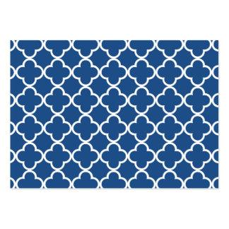 Modelo azul y blanco clásico del marroquí de tarjetas de visita grandes