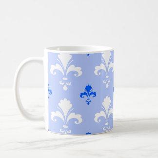 Modelo azul y blanco de la flor de lis