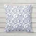 Modelo azul y blanco de los anillos almohada
