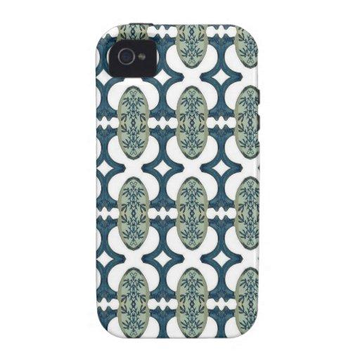 Modelo azul y blanco decorativo iPhone 4 fundas