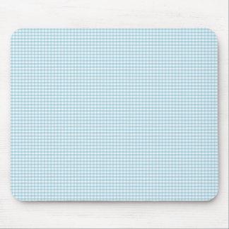 Modelo azul y blanco del control de la guinga tapete de ratones