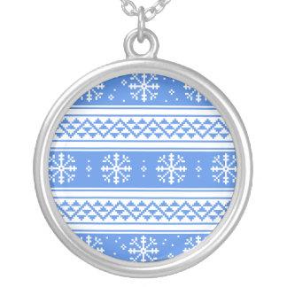 Modelo azul y blanco del copo de nieve del joyerias personalizadas