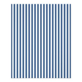 """Modelo azul y blanco del iris suave de la cabaña folleto 4.5"""" x 5.6"""""""