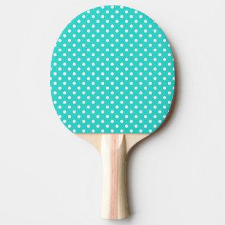Modelo azul y blanco del trullo de lunares pala de ping pong