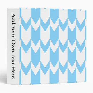 """Modelo azul y blanco en colores pastel de Chevron Carpeta 1 1/2"""""""