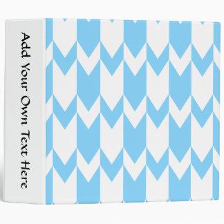 """Modelo azul y blanco en colores pastel de Chevron Carpeta 2"""""""