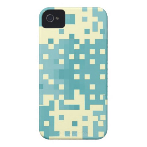 Modelo azul y ciánico del pixel Case-Mate iPhone 4 coberturas