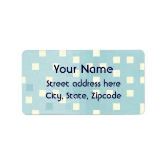 Modelo azul y ciánico del pixel etiquetas de dirección
