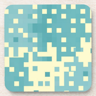 Modelo azul y ciánico del pixel posavaso