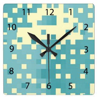 Modelo azul y ciánico del pixel relojes