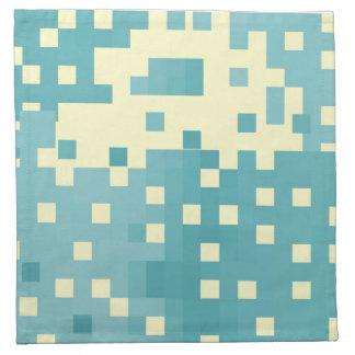Modelo azul y ciánico del pixel servilletas de papel