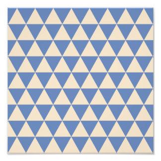 Modelo azul y color crema del triángulo fotografía