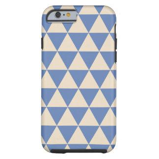 Modelo azul y color crema del triángulo funda de iPhone 6 tough