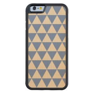Modelo azul y color crema del triángulo funda de iPhone 6 bumper arce
