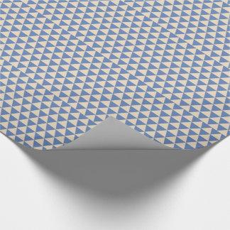 Modelo azul y color crema del triángulo papel de regalo