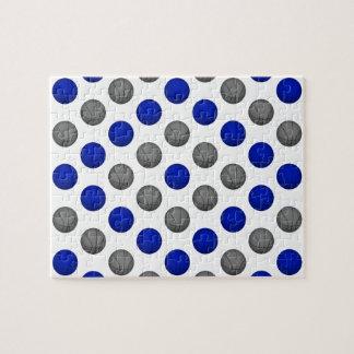 Modelo azul y gris del baloncesto puzzle