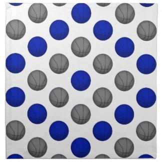 Modelo azul y gris del baloncesto servilletas imprimidas
