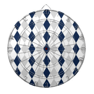 Modelo azul y gris del diamante tabla dardos
