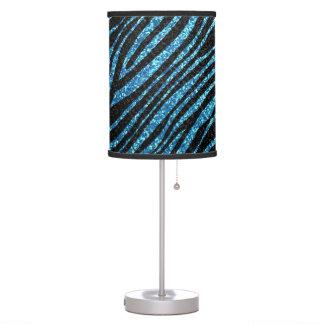 Modelo azul y negro de la raya de la cebra lámpara de escritorio