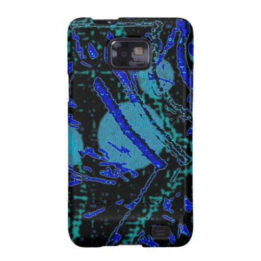 Modelo azul y negro de Techno celestial Galaxy SII Funda