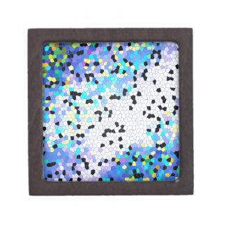 Modelo azul y negro del bígaro púrpura de mosaico caja de recuerdo de calidad
