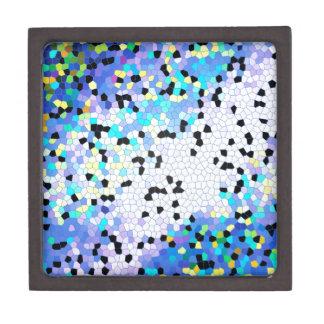 Modelo azul y negro del bígaro púrpura de mosaico cajas de recuerdo de calidad