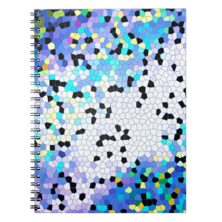 Modelo azul y negro del bígaro púrpura de mosaico libreta espiral