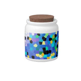 Modelo azul y negro del bígaro púrpura de mosaico platos para caramelos