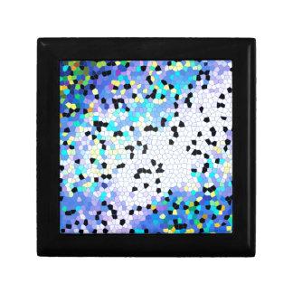 Modelo azul y negro del bígaro púrpura de mosaico joyero cuadrado pequeño