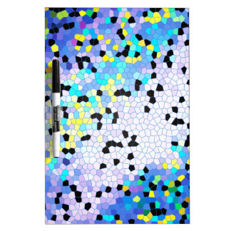 Modelo azul y negro del bígaro púrpura de mosaico pizarras blancas de calidad