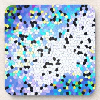 Modelo azul y negro del bígaro púrpura de mosaico posavaso
