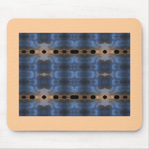 Modelo azul y negro del fractal alfombrillas de raton