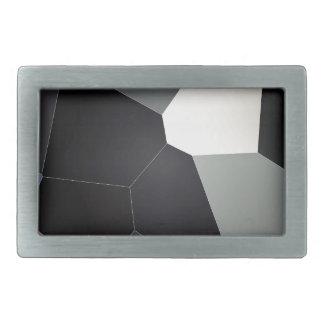 Modelo azul y negro elegante del vitral hebillas cinturon rectangulares