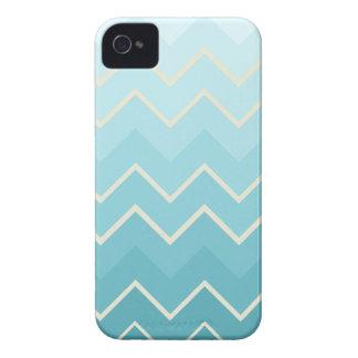 Modelo azul y poner crema de Ombre Chevron iPhone 4 Cobertura