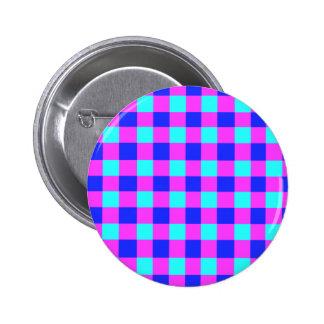 Modelo azul y púrpura de la guinga pin redondo de 2 pulgadas
