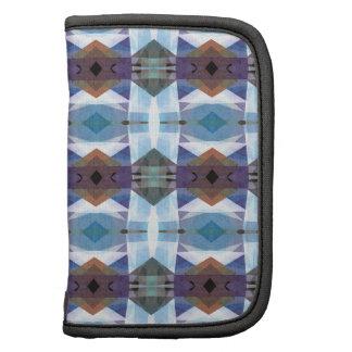 Modelo azul y púrpura de la tela escocesa planificador