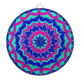 Modelo azul y púrpura de los puntos tablero dardos